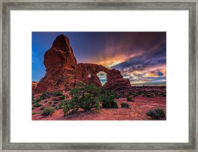 Day's End At Turret Arch Framed Print by Rick Berk