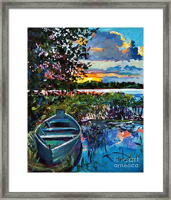 Days End Framed Print by David Lloyd Glover