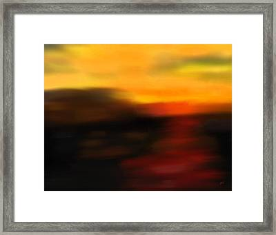 Day's End Framed Print by Gerlinde Keating - Galleria GK Keating Associates Inc