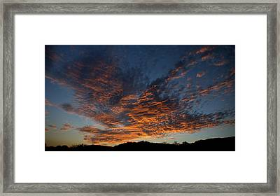Day's Glorious Ending Framed Print by Karen Musick