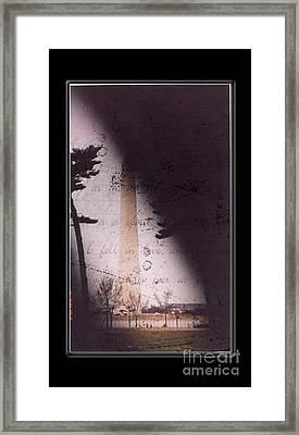 Dc Grunge  Framed Print by Lynn Gettman