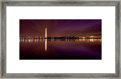 Dc Tidal Basin Pre-dawn Framed Print by David Hahn