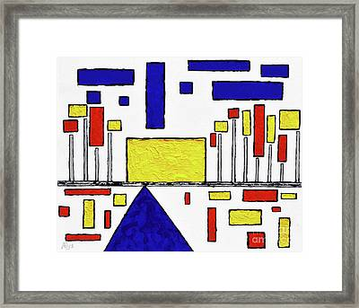 De Stijl My Beating Heart Framed Print by Alys Caviness-Gober