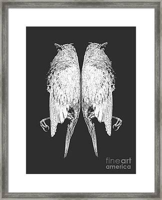 Dead Birds Tee White Framed Print by Edward Fielding