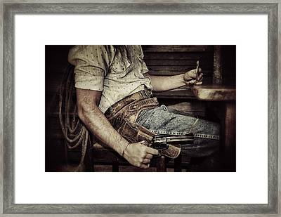 Dead Mans Hand Framed Print by Pair of Spades