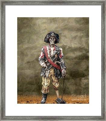 Dead Men Tell No Tales Framed Print by Randy Steele
