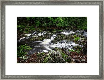 Dead River Falls Framed Print by Todd Bielby