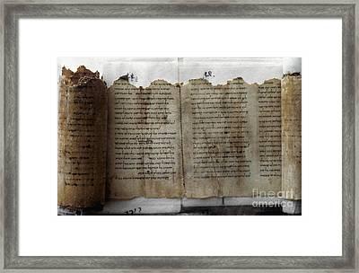 Dead Sea Scroll Framed Print by Granger