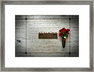 Dean Martin's Final Resting Place Framed Print by Mountain Dreams