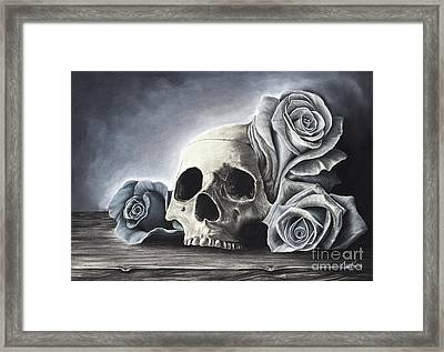 Death By The Rose Framed Print by Charles Toy