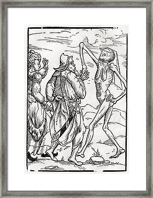 Death Comes For The Unbelieving Husband Framed Print by Vintage Design Pics