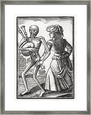 Death Comes For The Unbelieving Woman Framed Print by Vintage Design Pics
