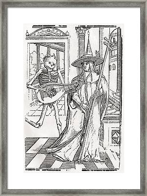 Death Comes To The Cardinal From Der Framed Print by Vintage Design Pics