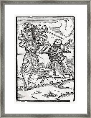 Death Comes To The Knight Or Count Framed Print by Vintage Design Pics