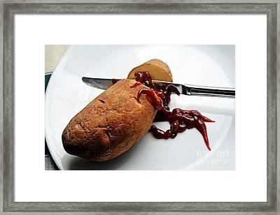Death Of A Potato  Framed Print by JW Hanley