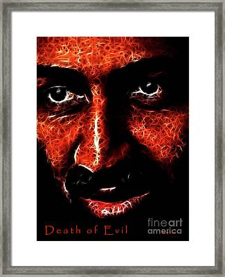 Death Of Evil . Death Of Osama Bin Ladin . May 1 . 2011 Framed Print by Wingsdomain Art and Photography