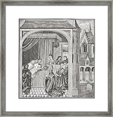 Death Of Joseph Of Arimathea. After A Framed Print by Vintage Design Pics