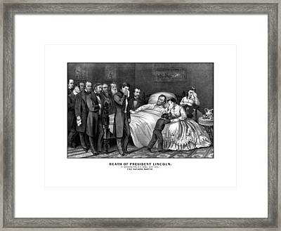 Death Of President Lincoln Framed Print by War Is Hell Store