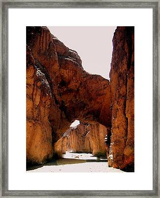 Death Valley Arch Framed Print by Marty Koch