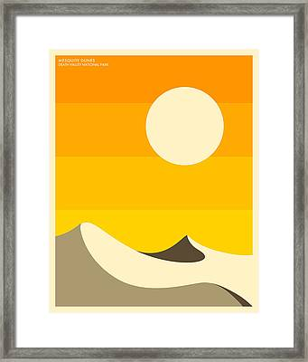 Death Valley National Park Framed Print by Jazzberry Blue
