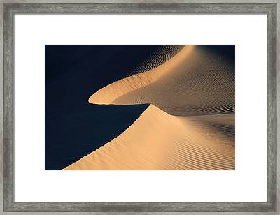 Death Valley Sand Design Framed Print by Pierre Leclerc Photography