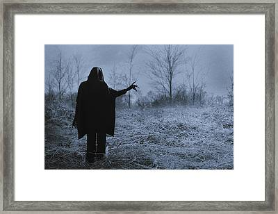 Death Wants To Play Framed Print by Art of Invi