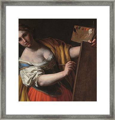 Deatil Of An Allegory Of Painting Framed Print by Alessandro Turchi