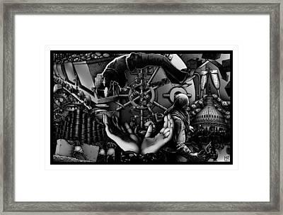 Debt To America Framed Print by Matthew Ridgway