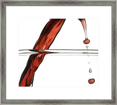 Decanting Wine Framed Print by Frank Tschakert
