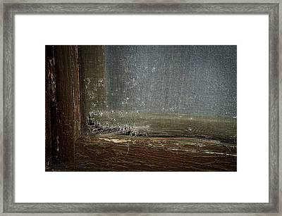 Decaying Window Screen Framed Print by Thomas Woolworth