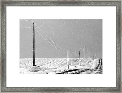 December Drive Framed Print by Todd Klassy