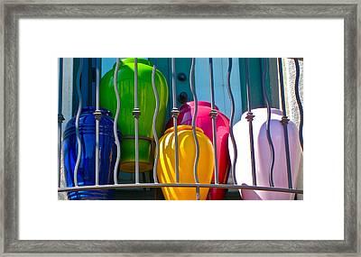 Deck Party Framed Print by Gwyn Newcombe