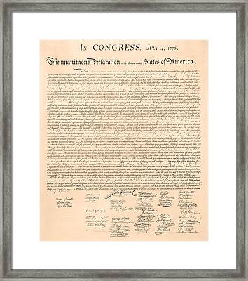 Declarations Of Independence Framed Print by Declarations of Independence