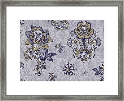 Deco Flower Blue Framed Print by JQ Licensing