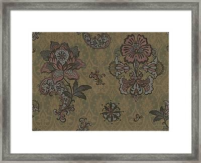 Deco Flower Brown Framed Print by JQ Licensing