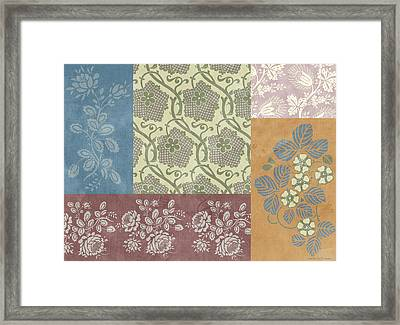 Deco Flower Patchwork 2 Framed Print by JQ Licensing