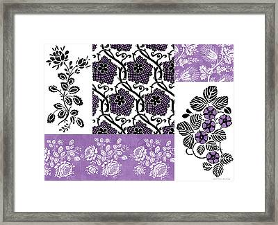 Deco Flower Patchwork 3 Framed Print by JQ Licensing