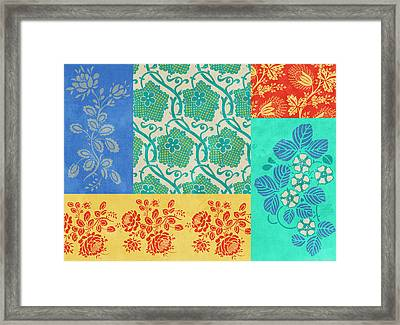 Deco Flowers Framed Print by JQ Licensing