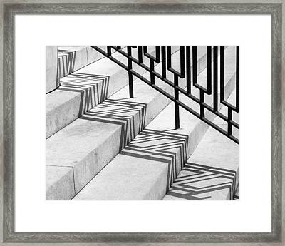 Deco Shadow Framed Print by Rona Black