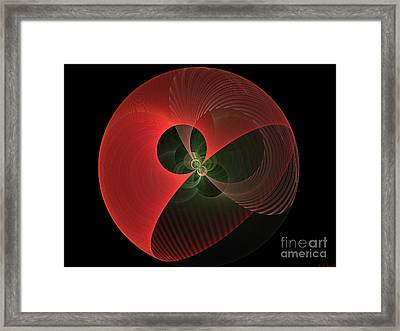 Decorative Globe Of Red Framed Print by Deborah Benoit