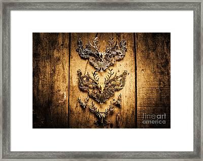 Decorative Moose Emblems Framed Print by Jorgo Photography - Wall Art Gallery
