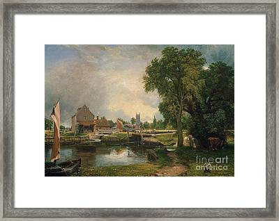 Dedham Lock And Mill Framed Print by John Constable