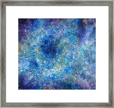 Deep Blue #4 Framed Print by Adrienne Martino