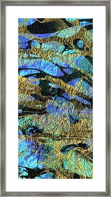 Deep Blue Abstract Art - Deeper Visions 1 - Sharon Cummings Framed Print by Sharon Cummings