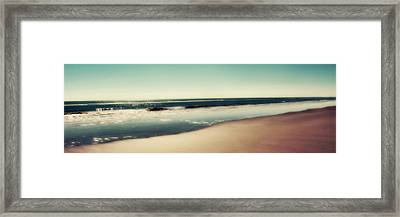 Deep Blue Sea Panoramic Framed Print by Amy Tyler
