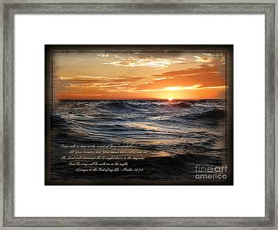 Deep Calls To Deep - Rustic Framed Print by Shevon Johnson