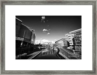 Deep Cutting Section Of Oozells Street Loop Area Birmingham Canal Navigations Brindleys Old Main Lin Framed Print by Joe Fox