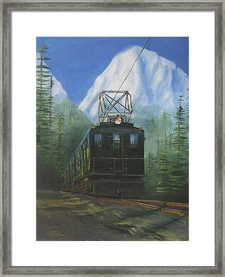 Deep In The Cascades Framed Print by Christopher Jenkins