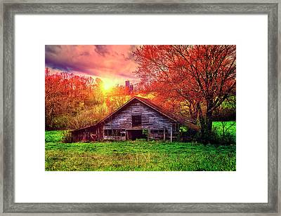 Deep In The Heart Framed Print by Debra and Dave Vanderlaan