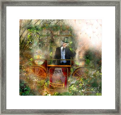 Deep In The Woods - Is The Fairyloon Man Framed Print by Carrie Jackson